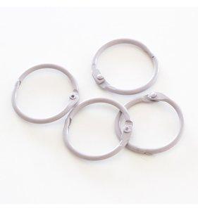 """Set 4 anillas 1,5"""" - 4 cm Grises"""