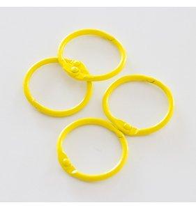 "Set 4 anillas 1,5"" - 4 cm Amarillo Canario"