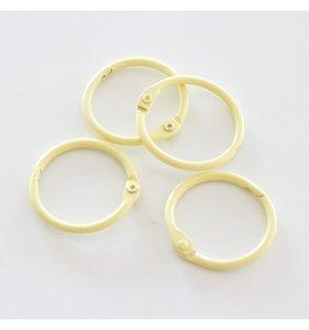 "Set 4 anillas 1,5"" - 4 cm Amarillo Pastel"