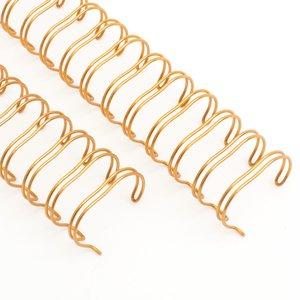"""Espirales encuadernar 1 y 1/2"""" - 38,1 mm Oro rosado"""