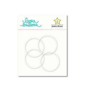Set 4 anillas 30 mm Blancas