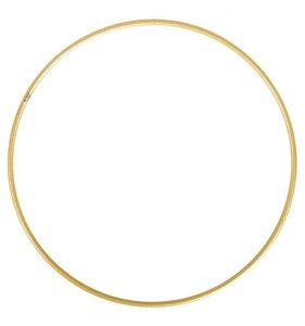 Anilla-bastidor de metal 15 cm dorada