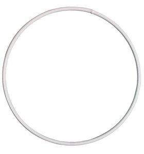 Anilla-bastidor de metal 20 cm blanca