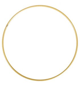 Anilla-bastidor de metal 20 cm dorada