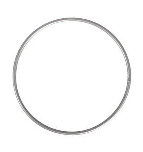 Anilla-bastidor de metal 20 cm plataeada