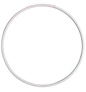 Anilla-bastidor de metal 25 cm blanca