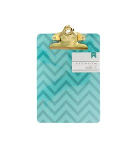 Mini Clipboard Chevron Aqua