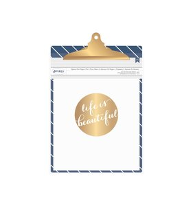 Clipboard Blue with stripe
