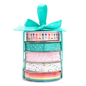 Set de cintas Birthday Pink and Aqua