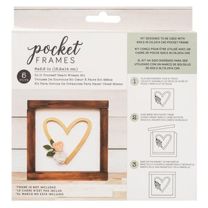 "Kit Accesorios Pocket Frames Heart 6""x5.5"""