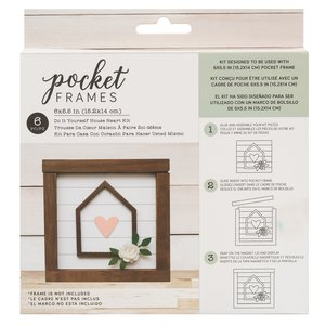 "Kit Accesorios Pocket Frames House Heart 6""x5.5"""
