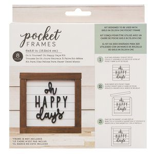 "Kit Accesorios Pocket Frames Oh Happy Days 6""x5.5"""