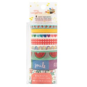 Set de washi tapes Amy Tangerine Picnic in the park