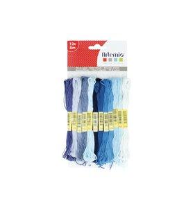Set hilos de algodón Blue