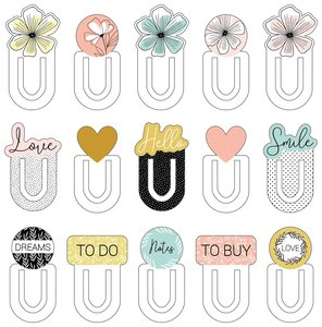 Set de Clips de chipboard 15 pcs Good Vibes