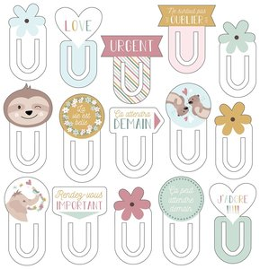 Set de Clips de chipboard 15 pcs No Stress & Co