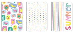 Set de cuadernos A5 Tutti Frutti 3 pcs