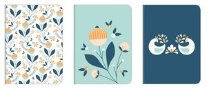 Set de cuadernos A5 Blossom 3 pcs