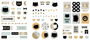 Set de pegatinas de chipboard Terrazo Cat 3 hojas