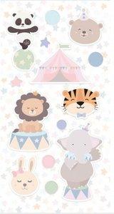 Set de pegatinas puffy Cirque