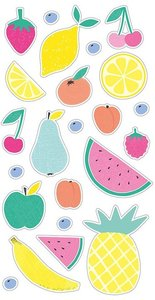 Set de pegatinas puffy Tutti Frutti Frutas