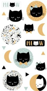 Set de pegatinas puffy Terrazo Cat