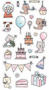 Set de pegatinas puffy So Cute Celebration