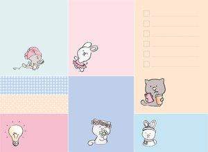 Set de Post It 400 pcs So Cute