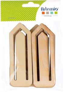 Clips de madera XL Artemio 12 pcs