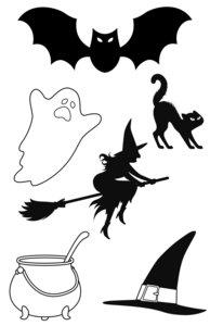 Set de sellos Artemio Halloween Boo