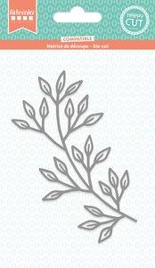 Troquel Cozy Christmas Rama con hojas