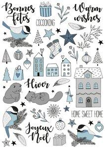 Rubons o calcomanías Cozy Christmas