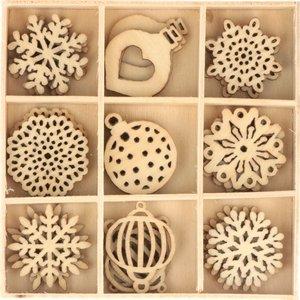 Maderitas Cozy Christmas Copos de nieve