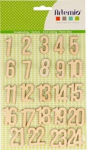 Números de madera Calendario de Adviento