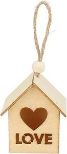 Set casitas de madera para colgar Birdhouse Love 2 pcs