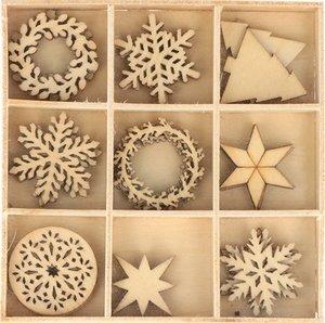 Maderitas Cozy Christmas Snowflakes