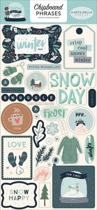 Chipboard 6x12 Snow Much Fun Phrases