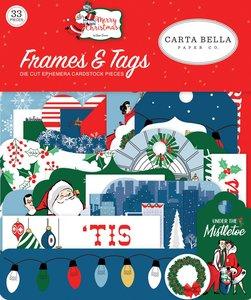 Marcos y etiquetas Merry Christmas