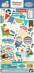 "Family Night Carta Bella 6x12"" Chipboard Phrases"