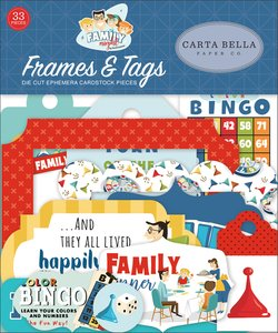 Family Night Carta Bella Die Cuts Frames & Tags