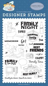 Family Night Carta Bella Sellos Family Time