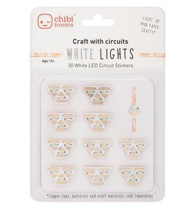 Set de Luces Led Chibitronics White 30 pcs