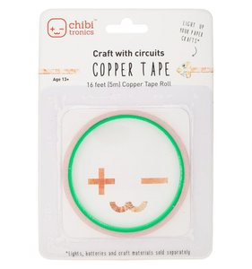 Cinta adhesiva de cobre 5 m para set Chibitronics