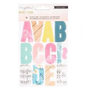 Alfabeto vinílico Cling Multi Color Magnet Studio