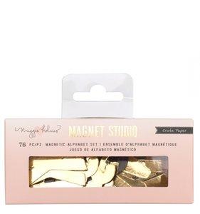 Alfabeto magnético pequeño Gold Magnet Studio