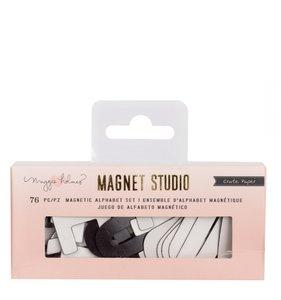 Alfabeto magnético pequeño White Magnet Studio