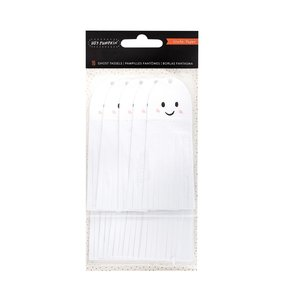 Tassels de papel Ghost Hey Pumpkin