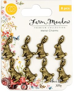 Set de Charms Farm Meadow Rabbits