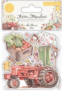 Set de maderitas decoradas Farm Meadow Farm