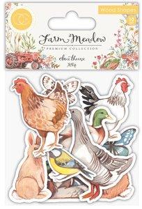 Set de maderitas decoradas Farm Meadow Animals